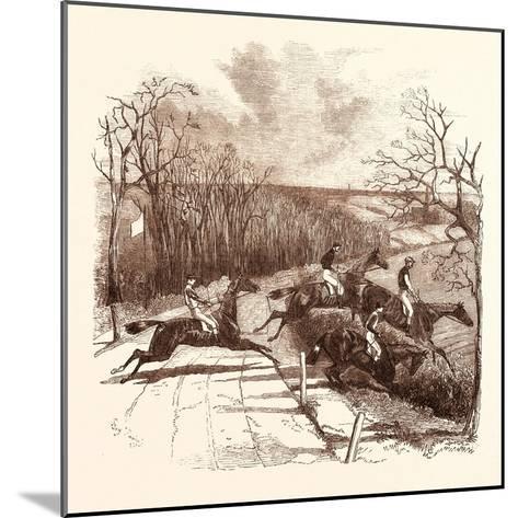Steeple Chasing--Mounted Giclee Print