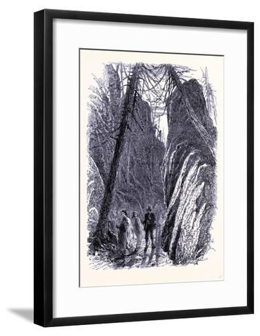 Pudding Stone Hall United States of America--Framed Art Print