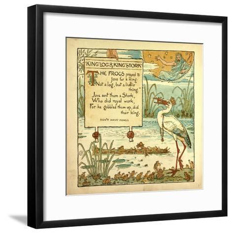 King Log and King's Stork--Framed Art Print