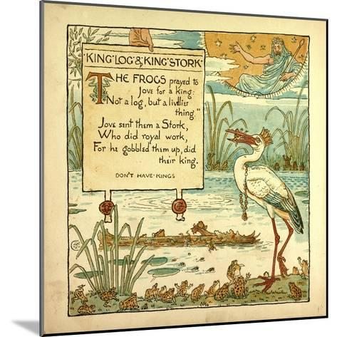 King Log and King's Stork--Mounted Giclee Print
