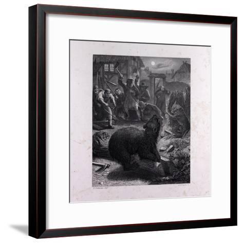 Bruin in the Trap--Framed Art Print