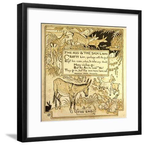 The Ass and the Sick Lion--Framed Art Print