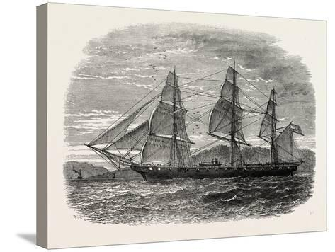 The Hartford (Admiral Farragut's Flag-Ship), USA, 1870s--Stretched Canvas Print