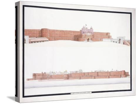 The Fort of Agra, with the Delhi Gate, C. 1815--Stretched Canvas Print
