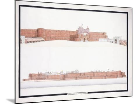 The Fort of Agra, with the Delhi Gate, C. 1815--Mounted Giclee Print
