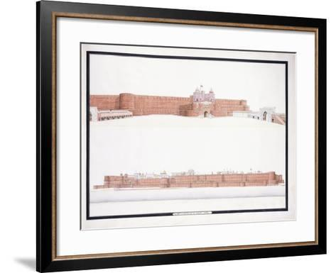 The Fort of Agra, with the Delhi Gate, C. 1815--Framed Art Print