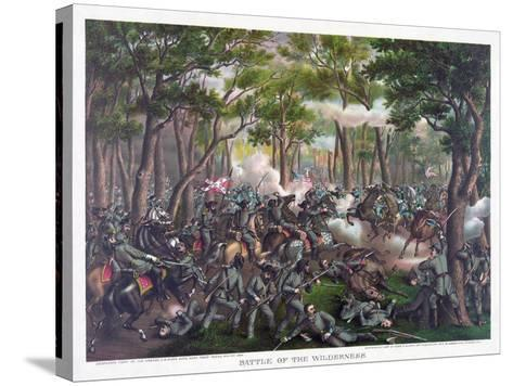 Battle of the Wilderness, Pub. Kurz and Allison, 1887--Stretched Canvas Print