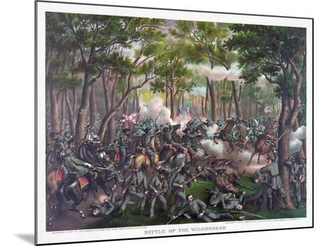 Battle of the Wilderness, Pub. Kurz and Allison, 1887--Mounted Giclee Print