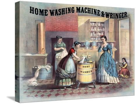 Home Washing Machine and Wringer, C.1869--Stretched Canvas Print
