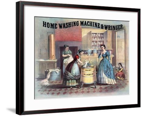 Home Washing Machine and Wringer, C.1869--Framed Art Print