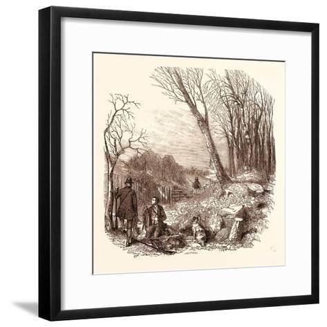 Rabbit Shooting, Rabbits--Framed Art Print