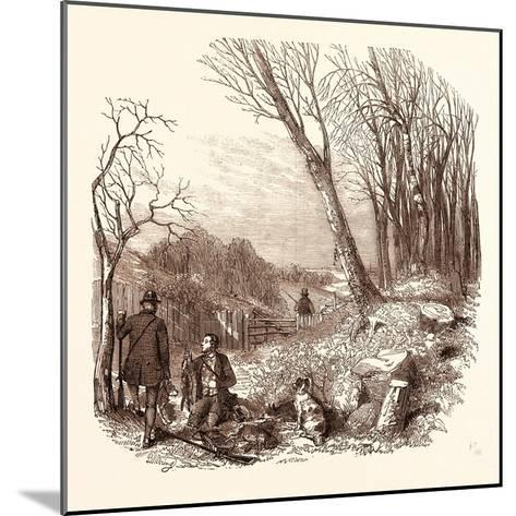 Rabbit Shooting, Rabbits--Mounted Giclee Print