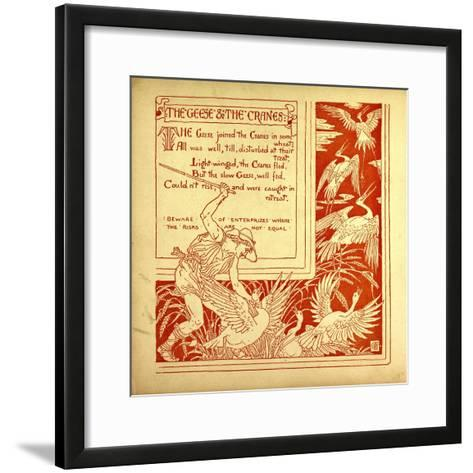 The Geese and the Cranes--Framed Art Print