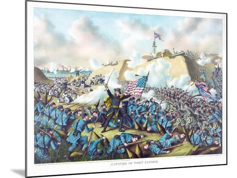 Capture of Fort Fisher, Pub. Kurz and Allison, 1890--Mounted Giclee Print
