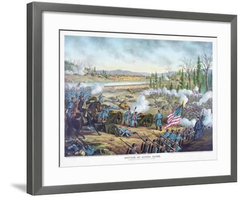 Battle of Stones River, Pub. Kurz and Allison, 1891--Framed Art Print