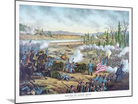 Battle of Stones River, Pub. Kurz and Allison, 1891--Mounted Giclee Print
