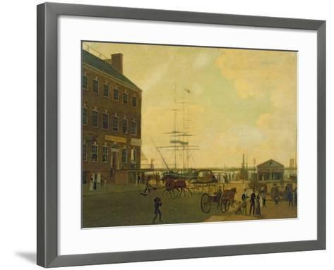 Foot of Cortlandt Street, New York City, C.1818-49--Framed Art Print