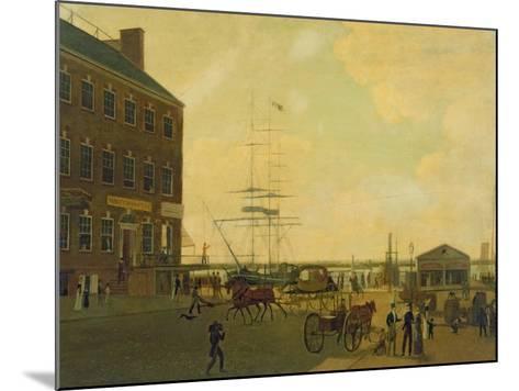 Foot of Cortlandt Street, New York City, C.1818-49--Mounted Giclee Print