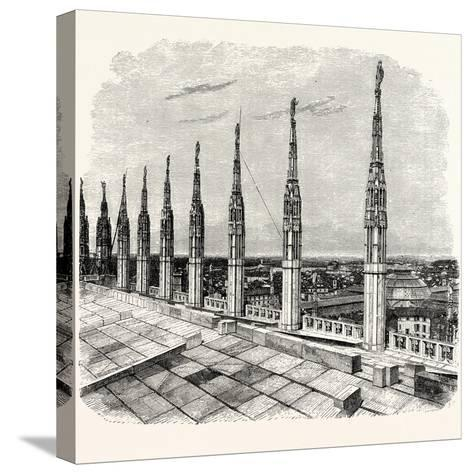 Pinnacles of Milan Cathedral--Stretched Canvas Print