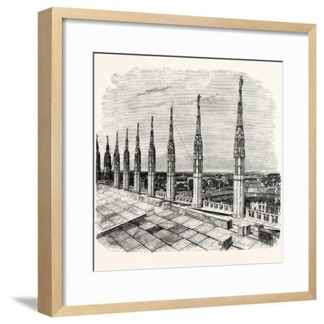 Pinnacles of Milan Cathedral--Framed Art Print