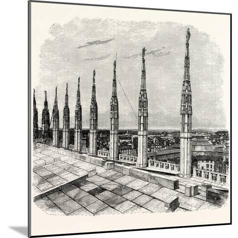 Pinnacles of Milan Cathedral--Mounted Giclee Print
