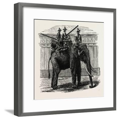 A Siamese War Elephant--Framed Art Print