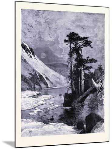 Frozen Lake Fort Seen from James Peak United States of America--Mounted Giclee Print