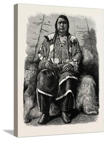 The Late Ute Indian Chief, Ouray, U.S., 1880 1881--Stretched Canvas Print