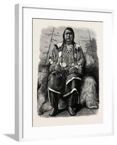 The Late Ute Indian Chief, Ouray, U.S., 1880 1881--Framed Art Print