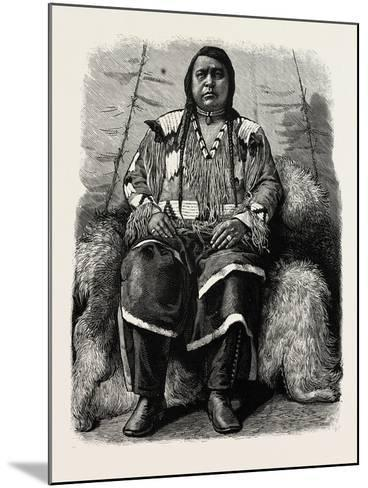 The Late Ute Indian Chief, Ouray, U.S., 1880 1881--Mounted Giclee Print