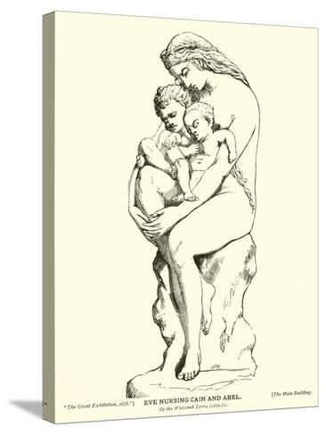 Eve Nursing Cain and Abel, by the Watcomb Terra Cotta Company--Stretched Canvas Print