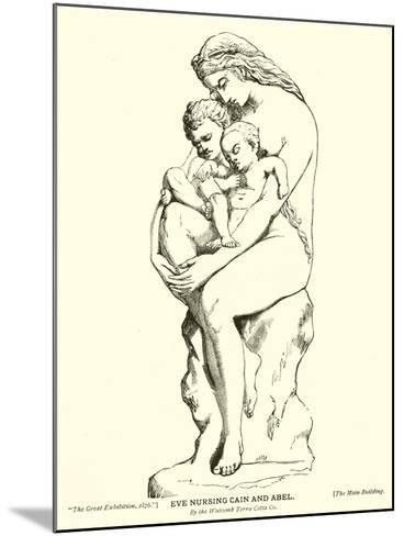 Eve Nursing Cain and Abel, by the Watcomb Terra Cotta Company--Mounted Giclee Print