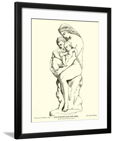 Eve Nursing Cain and Abel, by the Watcomb Terra Cotta Company--Framed Art Print