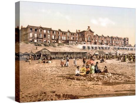 Hotel Orange from the Beach at Scheveningen, Pub. C.1900--Stretched Canvas Print