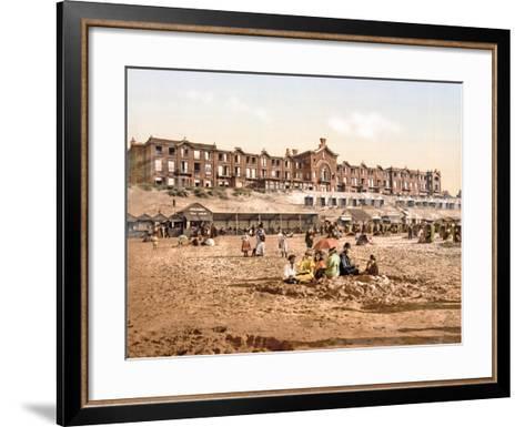 Hotel Orange from the Beach at Scheveningen, Pub. C.1900--Framed Art Print