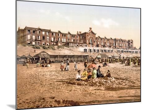 Hotel Orange from the Beach at Scheveningen, Pub. C.1900--Mounted Giclee Print