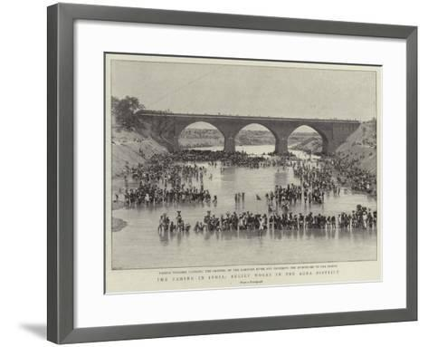 The Famine in India, Relief Works in the Agra District--Framed Art Print