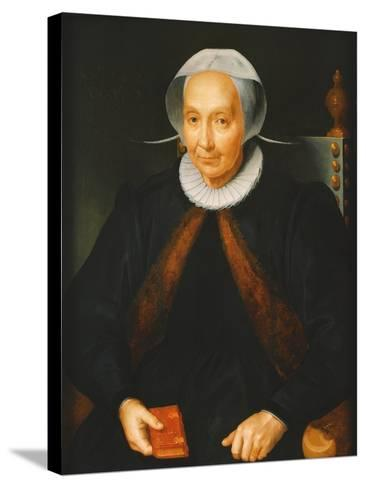 Portrait of an Elderly Lady, 1615--Stretched Canvas Print