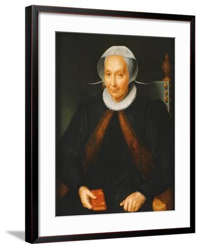 Portrait of an Elderly Lady, 1615--Framed Art Print
