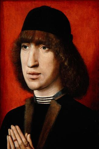 Portrait of a Man, C.1480-90--Stretched Canvas Print