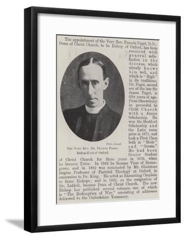 The Very Reverend Dr Francis Paget, Bishop-Elect of Oxford--Framed Art Print