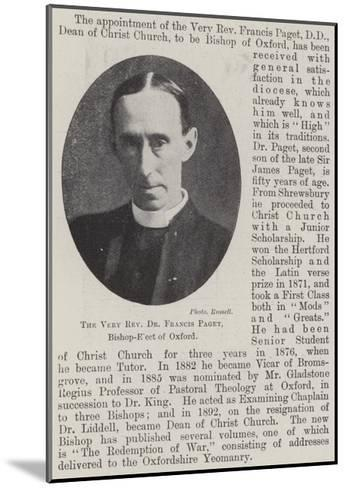 The Very Reverend Dr Francis Paget, Bishop-Elect of Oxford--Mounted Giclee Print