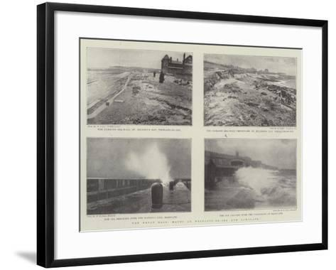 The Great Gale, Havoc at Westgate-On-Sea and Ramsgate--Framed Art Print