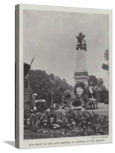 Monument to the Late Empress of Austria at Cap Martin--Stretched Canvas Print