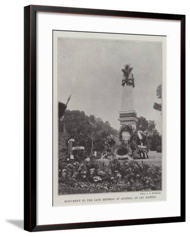Monument to the Late Empress of Austria at Cap Martin--Framed Art Print