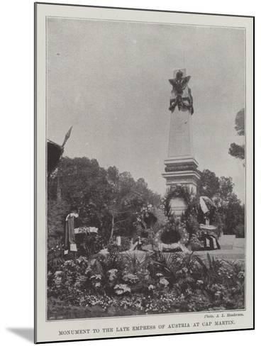 Monument to the Late Empress of Austria at Cap Martin--Mounted Giclee Print