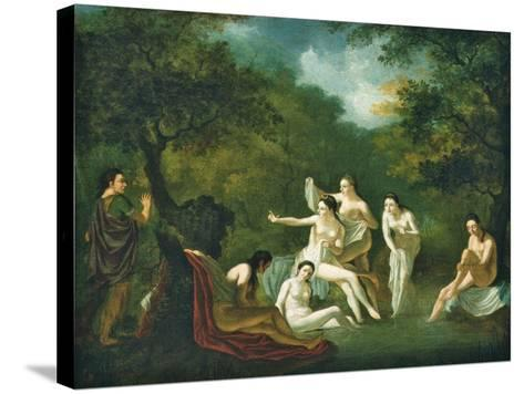 Diana and Actaeon--Stretched Canvas Print