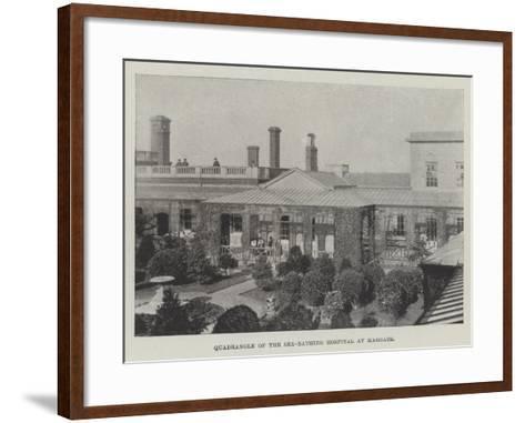Quadrangle of the Sea-Bathing Hospital at Margate--Framed Art Print