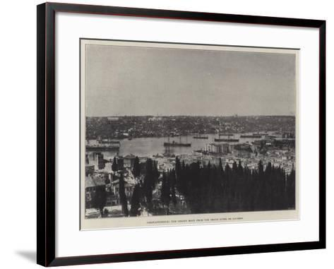 Constantinople, the Golden Horn from the Grand Hotel De Londres--Framed Art Print