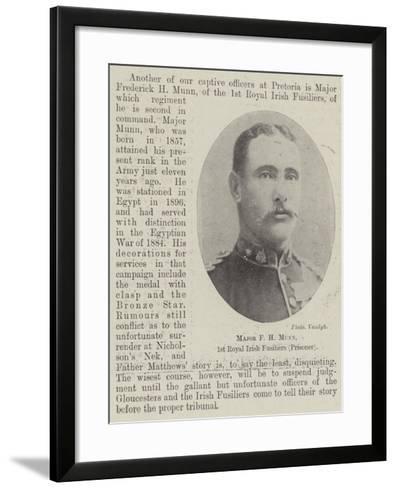 Major F H Munn, 1st Royal Irish Fusiliers (Prisoner)--Framed Art Print